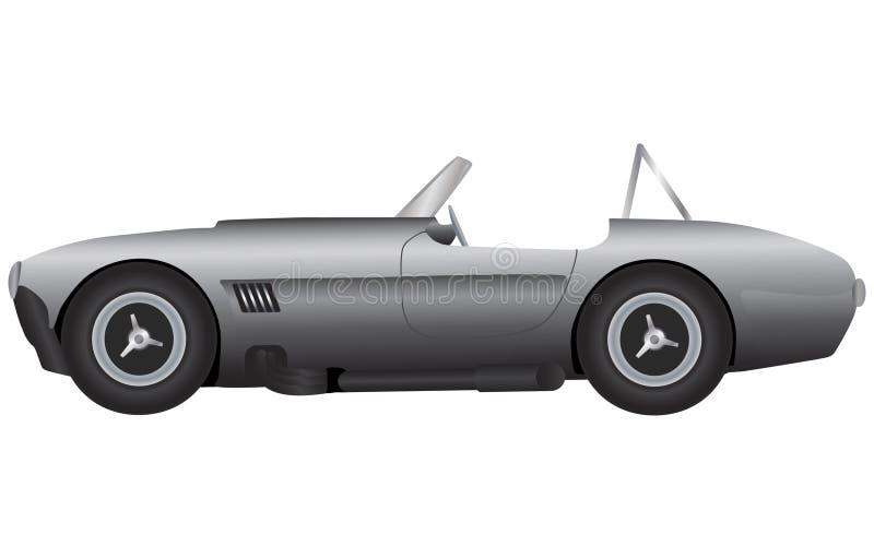 Zilveren sportwagen vector illustratie