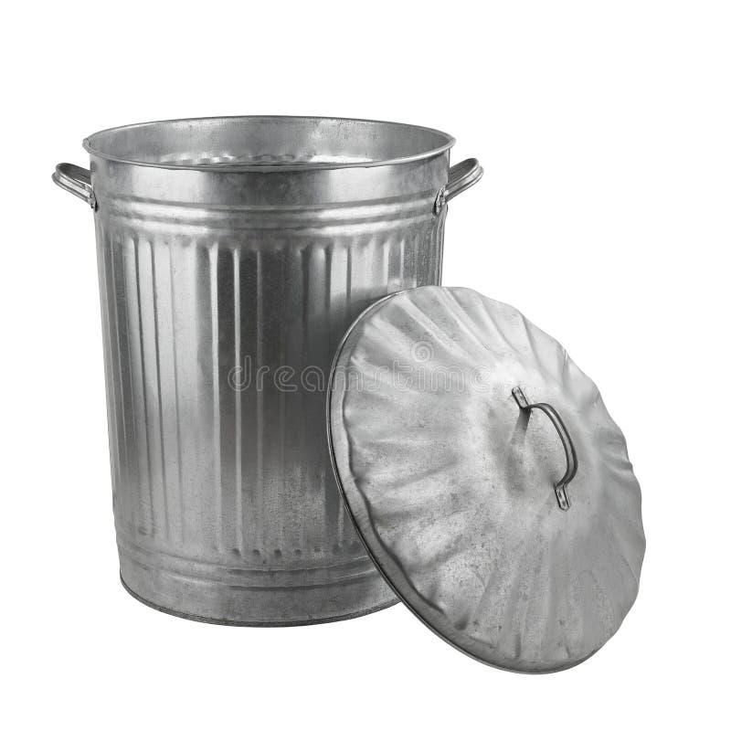 Zilveren staalvuilnisbak