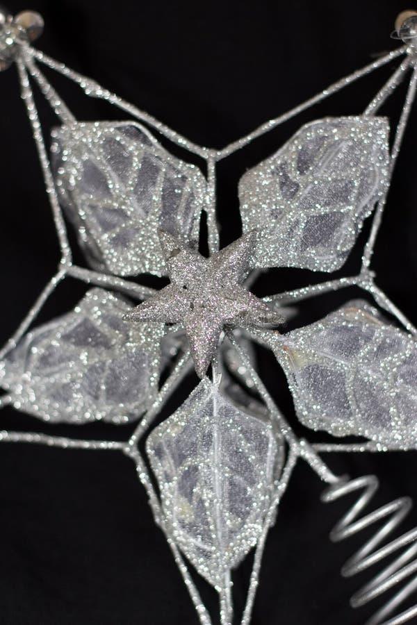 Zilveren ster royalty-vrije stock fotografie