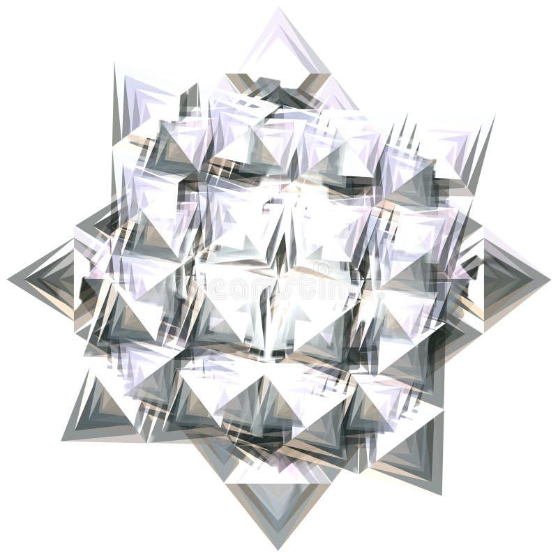 Zilveren ster 4 royalty-vrije illustratie