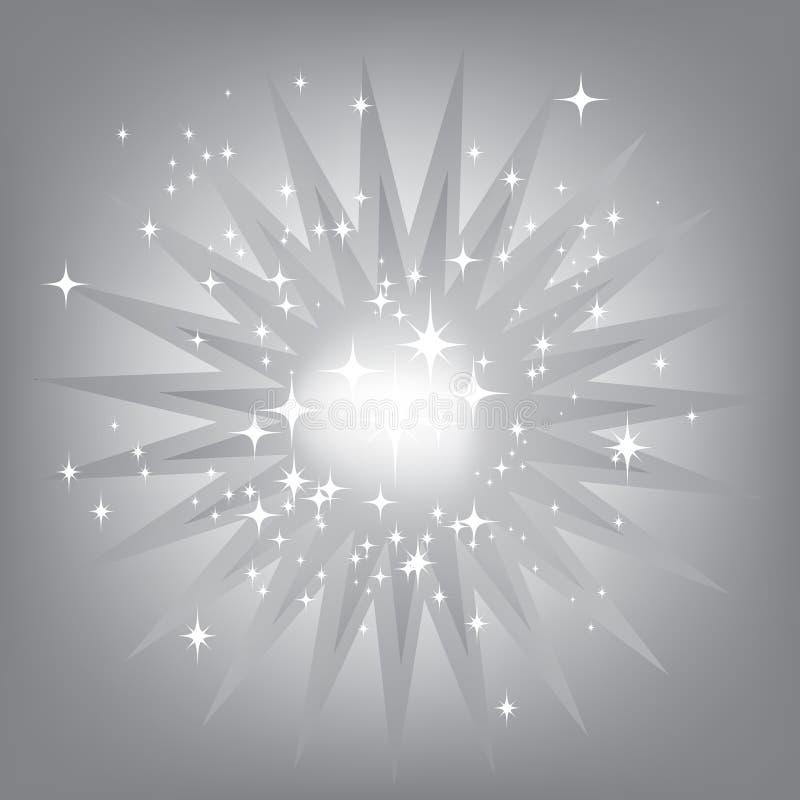 Zilveren steruitbarsting stock illustratie