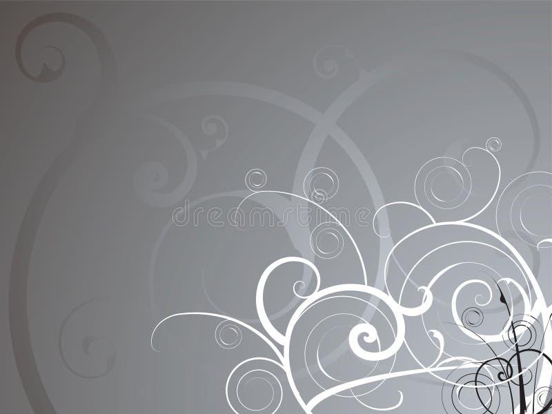 Zilveren stroom royalty-vrije illustratie