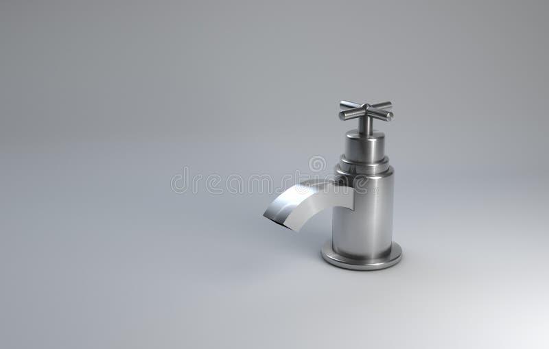 Zilveren Tapkraanontwerp vector illustratie
