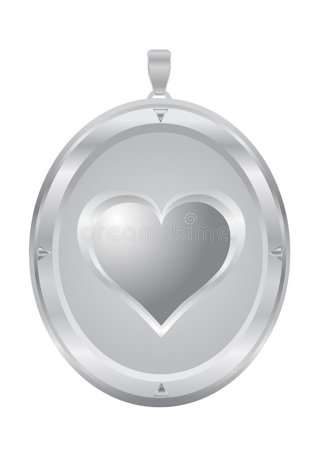 Zilveren tegenhanger stock illustratie