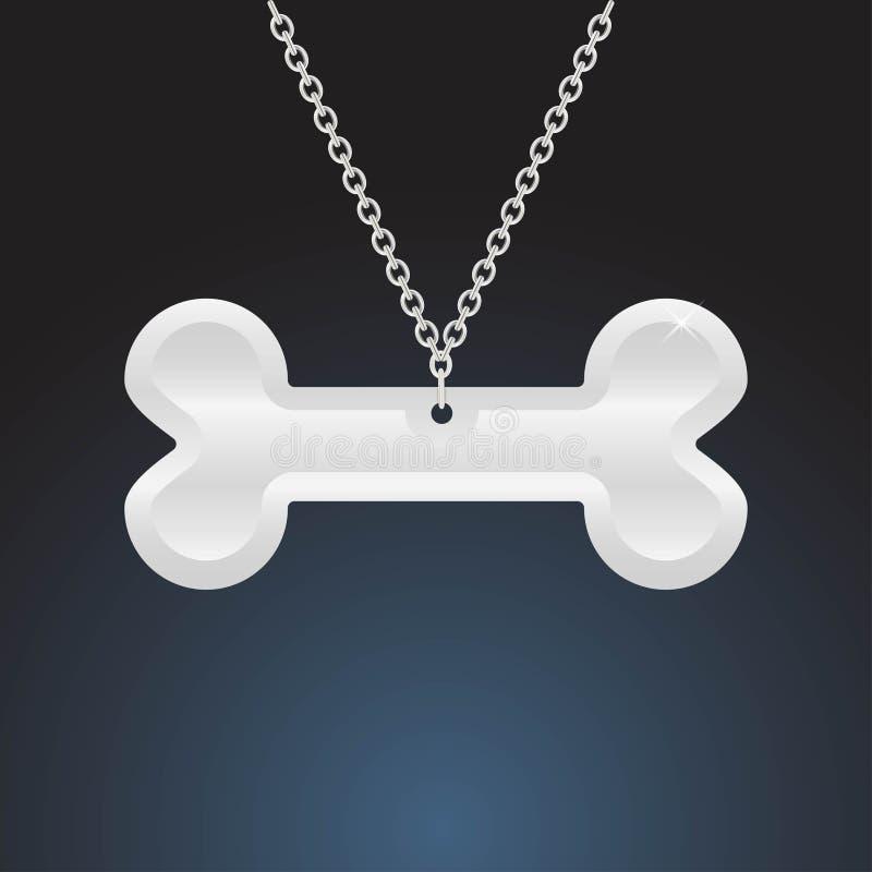 Zilveren tegenhangerjuwelen op donkere achtergrond met backlight vector illustratie