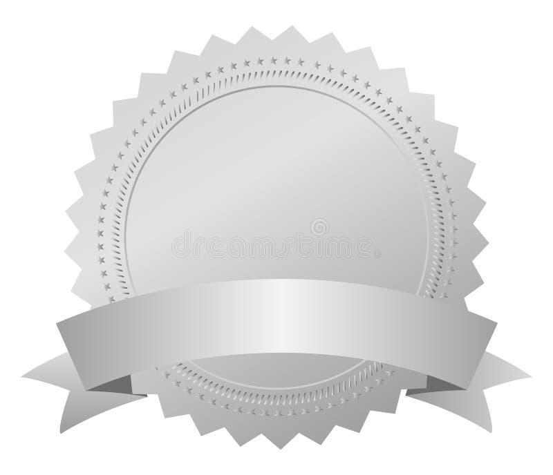 Zilveren toekenningsmedaille vector illustratie