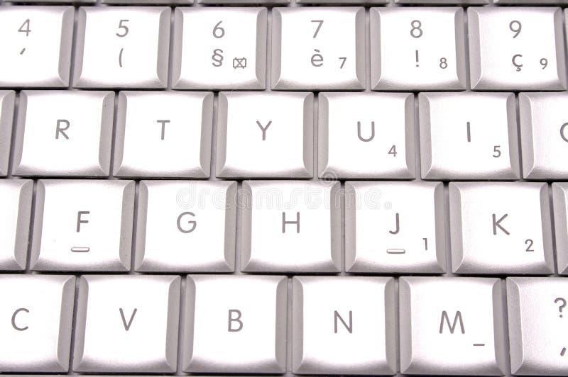 Zilveren toetsenbord royalty-vrije stock foto's
