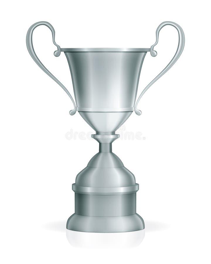 Zilveren trofee royalty-vrije illustratie