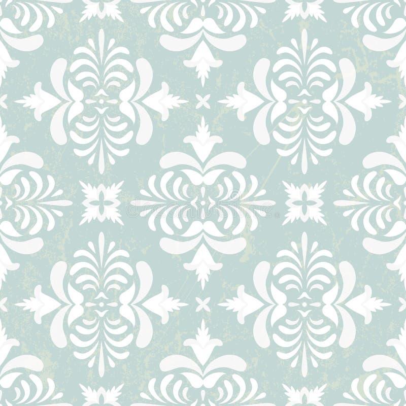 Zilveren uitstekend behang stock illustratie