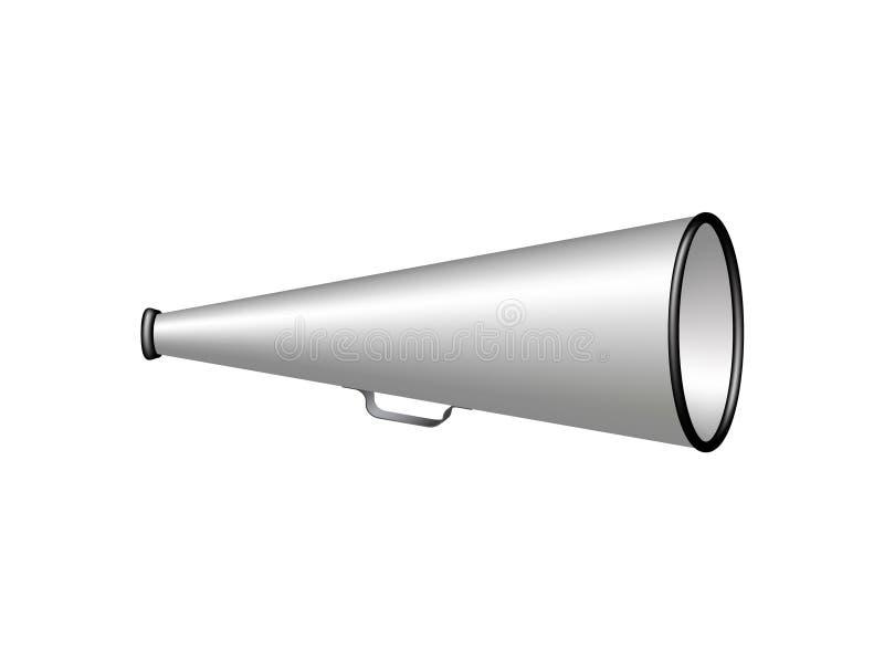 Zilveren uitstekende megafoon vector illustratie