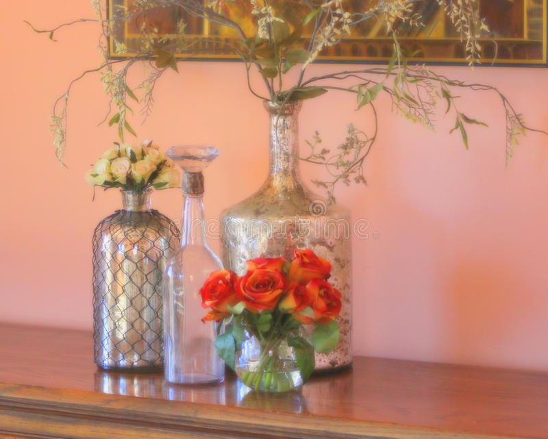 Zilveren vazen stock foto