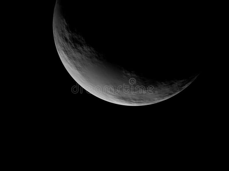Zilveren Volle maan royalty-vrije stock afbeeldingen