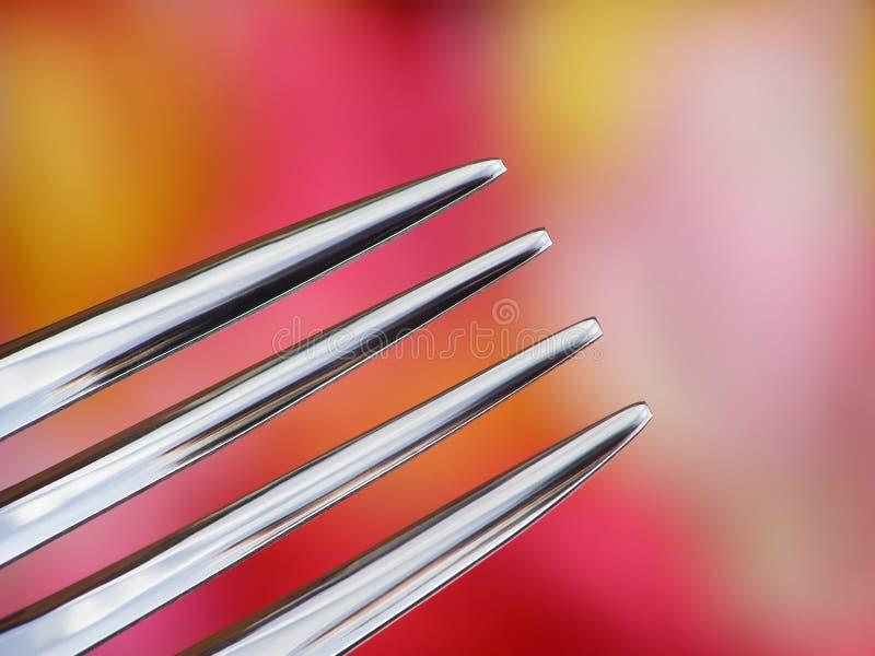 Zilveren vork royalty-vrije stock foto's
