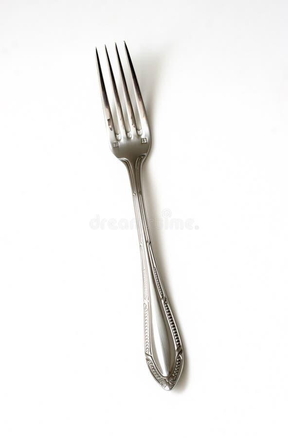 Zilveren vork stock afbeelding