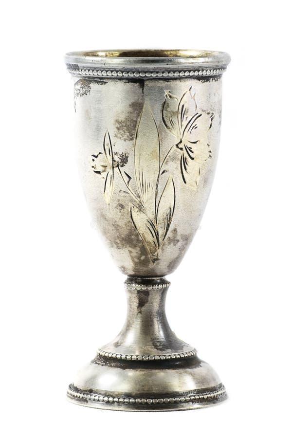 Zilveren wijnkop royalty-vrije stock foto