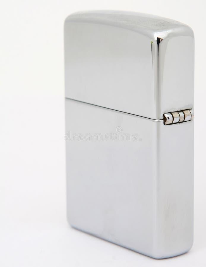 Zilveren zippoaansteker stock foto