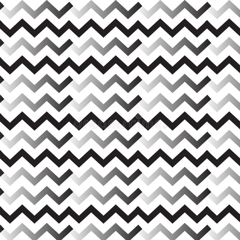 Zilveren zwarte het patroonachtergrond van de gradiëntchevron stock illustratie