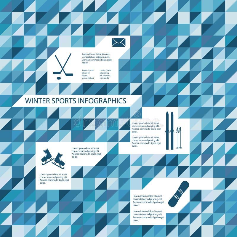 Zim aktywność i sportów infographics szablon royalty ilustracja