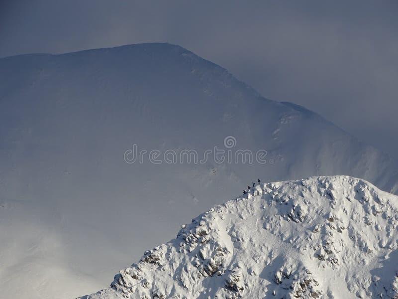 Zim góry w Szkocja fotografia stock