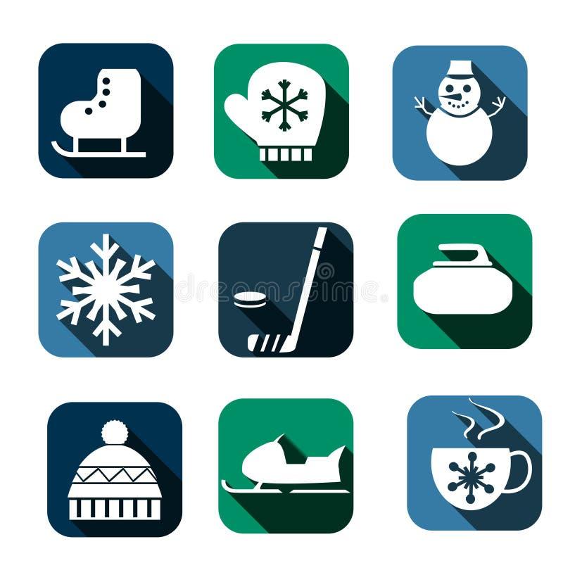 Zim ikony ilustracji