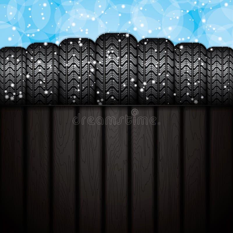 Zim opony ilustracja wektor