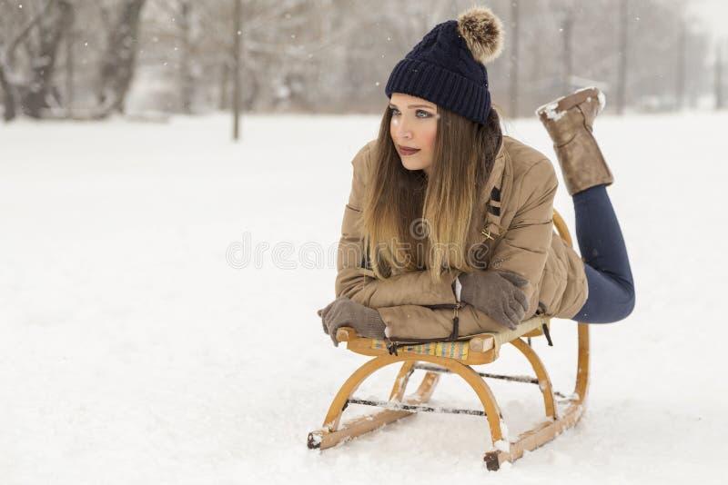 Zim przyjemności fotografia stock
