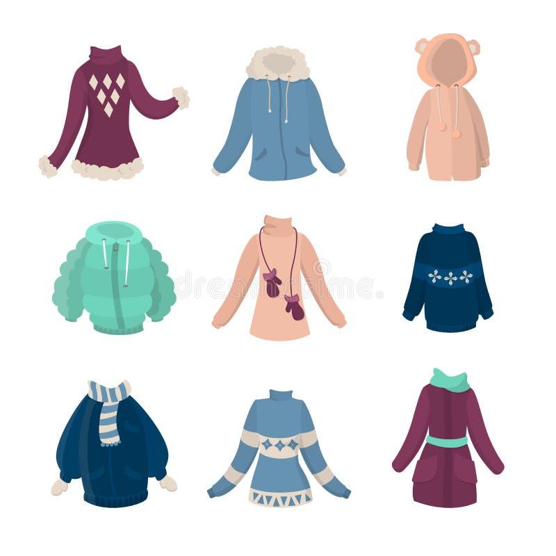 Zim ubrania ustawiający royalty ilustracja