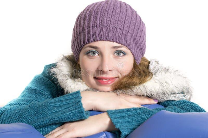 Zima śliczny portret zdjęcie stock