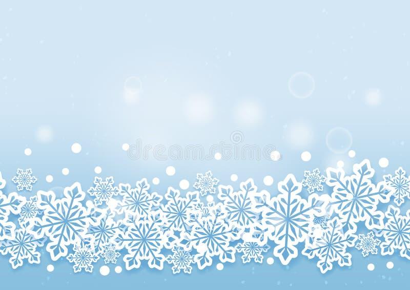 Zima śniegów Piękny tło royalty ilustracja