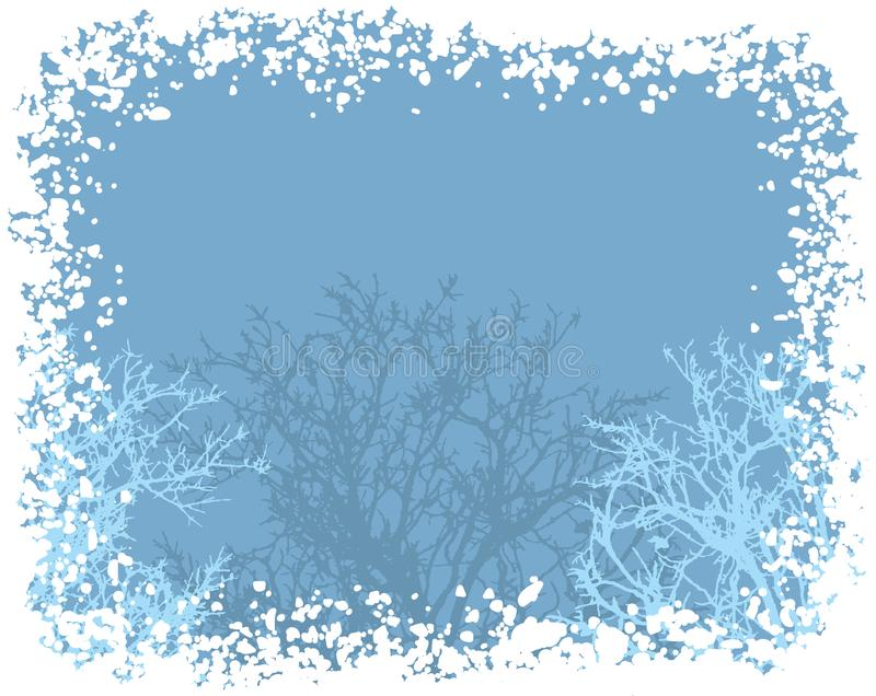 Zima śniegu granicy tło ilustracji