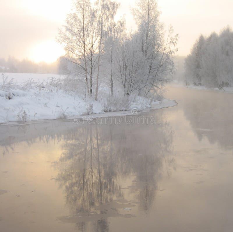 zima światła fotografia royalty free