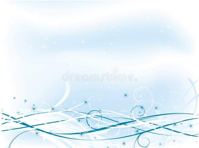 zima abstrakcyjna ilustracja wektor