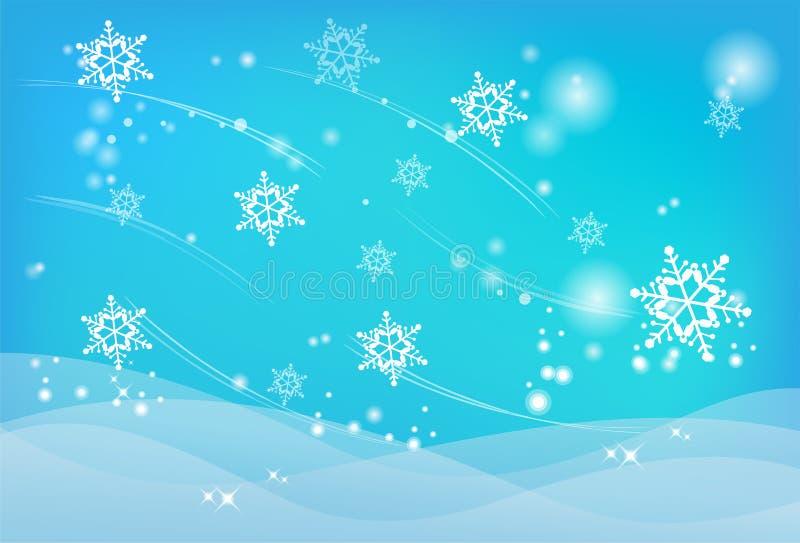 Zima abstrakt ilustracji
