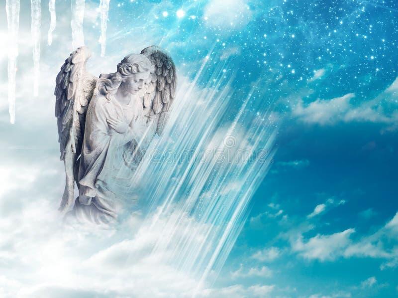 Zima anioł obraz stock