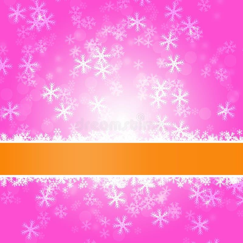 Zima błogiego opadu śniegu Kolorowy elegancki na abstrakcjonistycznym tle ilustracji
