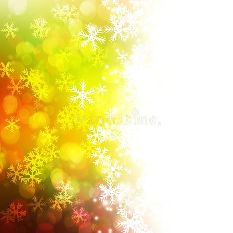 Zima błogiego opadu śniegu Kolorowy elegancki na abstrakcjonistycznym tle royalty ilustracja