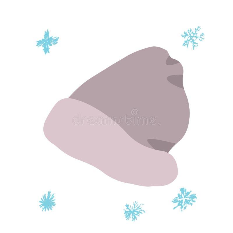 Zima beżu beanie royalty ilustracja
