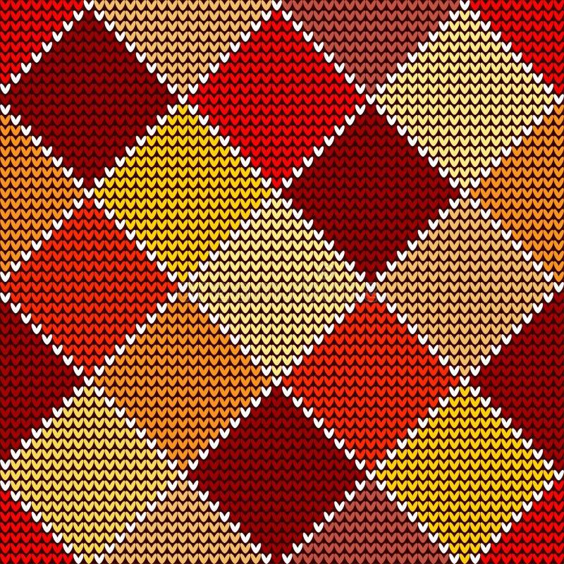 Zima Bezszwowy woolen trykotowy deseniowy kolorowy arlekin royalty ilustracja