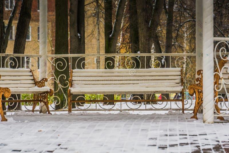 Zima bielu alkierz zdjęcie royalty free