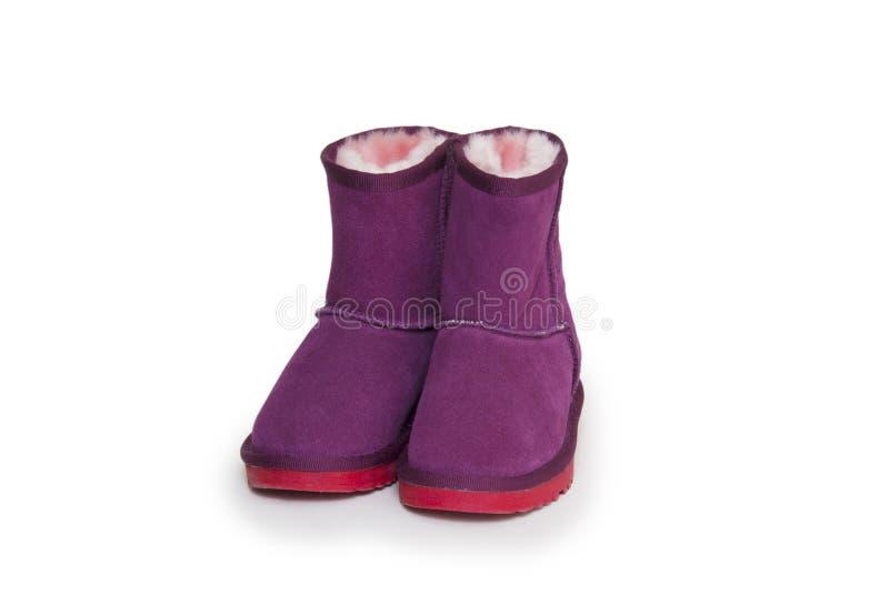 Zima buty odizolowywający na białym tle zdjęcie royalty free