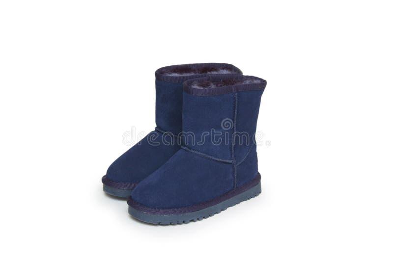 Zima buty odizolowywający na białym tle obraz stock