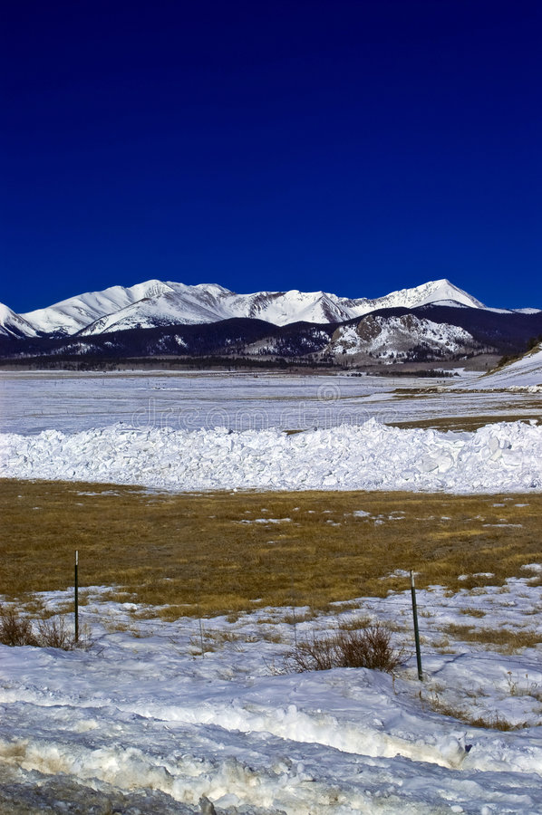 zima colorado gór śniegu zdjęcie stock