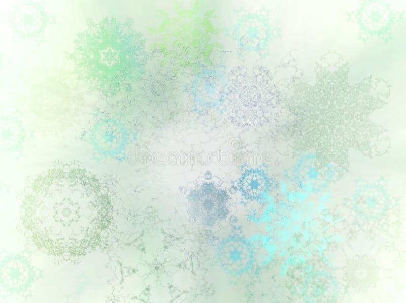 zima crystal śniegu ilustracja wektor