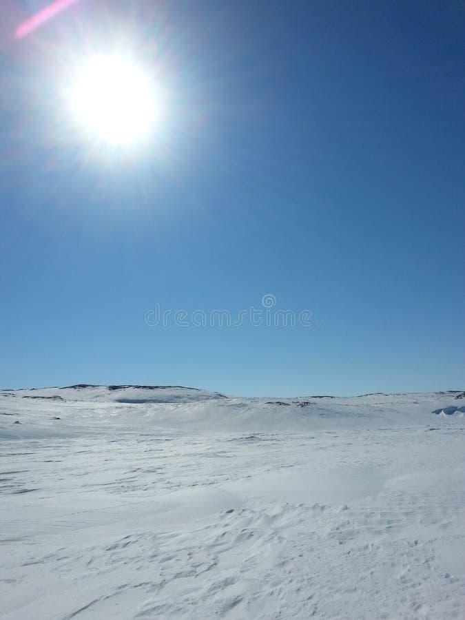 Zima czas przy południem zdjęcie royalty free