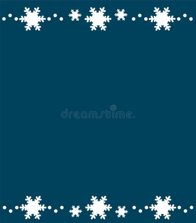 Zima czasu tło z płatkami śniegu Biały płatka śniegu wzór nad błękitnym tłem ilustracji