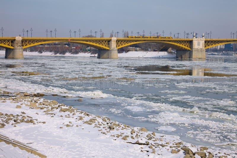 Zima Danube fotografia stock