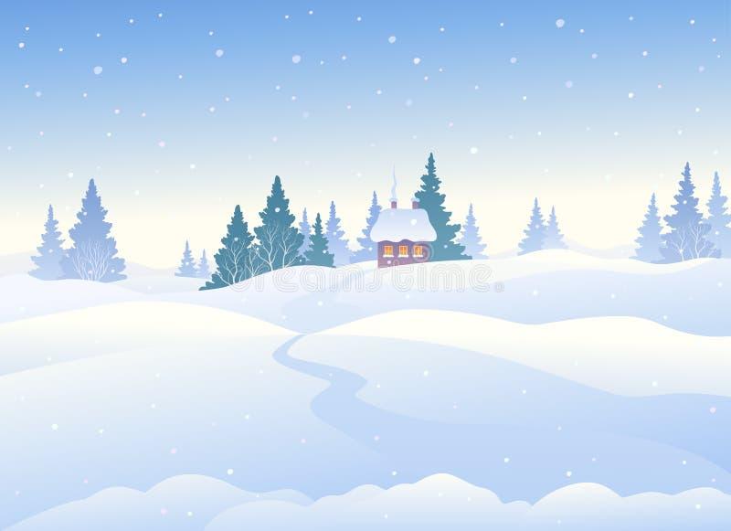 Zima dnia tło royalty ilustracja