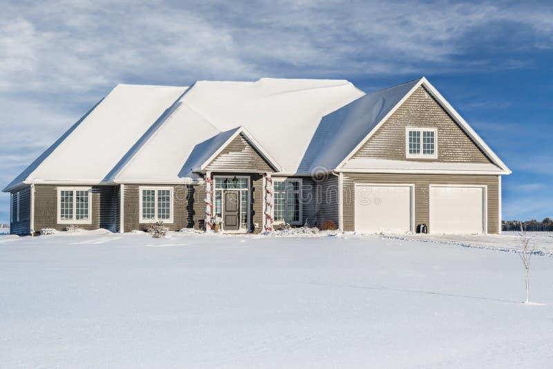 Zima dom zdjęcia stock