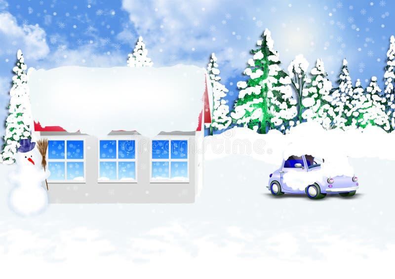 Zima dzień ilustracji