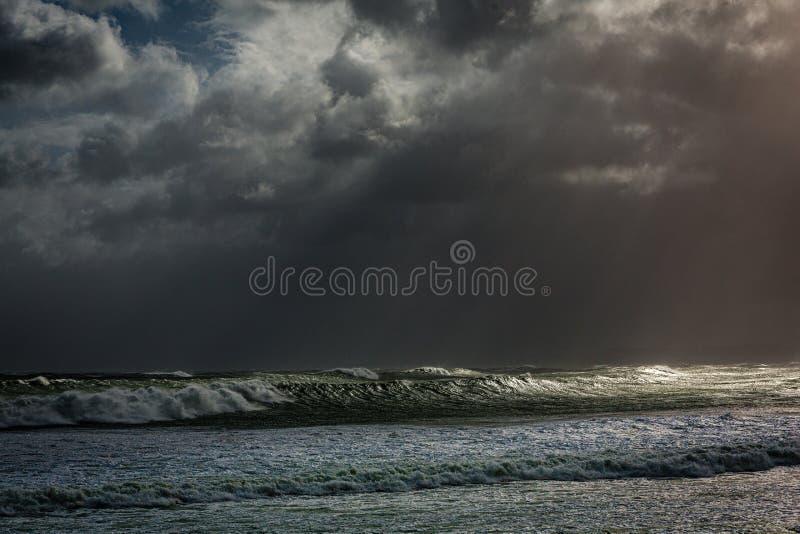 Zima dzień w Raglanowym, Nowa Zelandia obraz stock